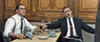 Thomas Hardy stars as Reggie and Ronnie Kray in <i>Legend</i>.