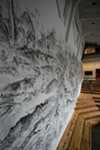 A site-specific mural by Qiu Zhijie above the amphitheater designed by Paul Discoe.