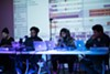 Jay Ant (center right) speaking on a panel at Youth Radio on October 7.
