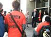 Coal opponents gathered outside of the federal courthouse in San Francisco this morning.