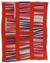 "Jessie T. Pettway, ""Bars and String-Pieced Columns,"" 1950s. Cotton, 95 x 76 in."