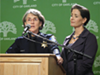 Oakland Police Chief Anne Kirkpatrick and Mayor Libby Schaaf.