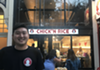 Co-founder John Keh in front of the restaurant.