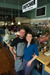 John Blevins and Ana Gosnell at Clove & Hoof.
