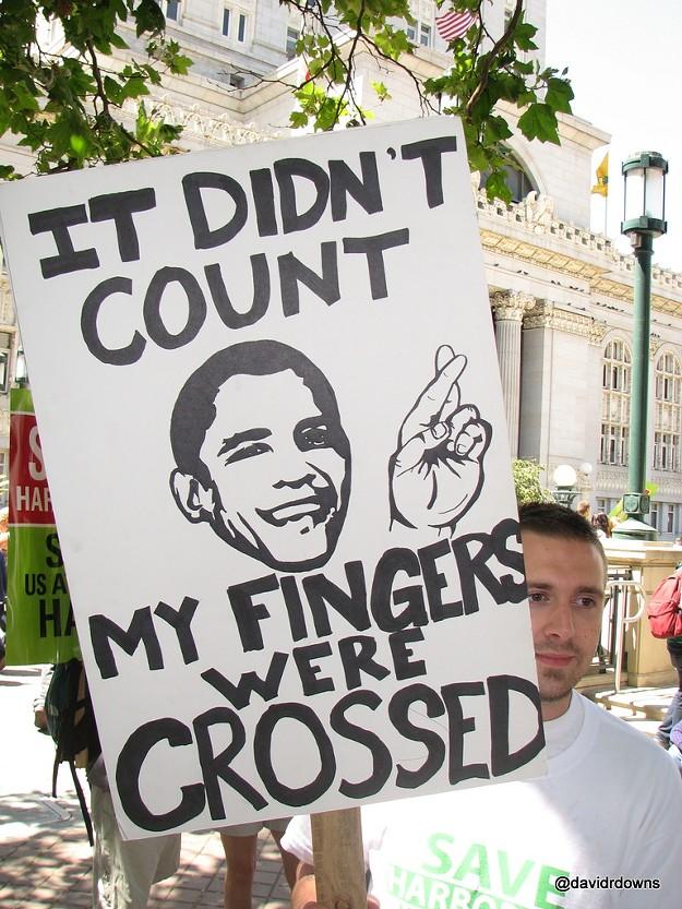 Harborside's Protest of Obama's Fundraiser