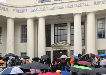Oakland Tech Students Call for Stricter Gun Control at Walk-Out