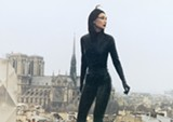 Maggie Cheung prowls Paris in Irma Vep.