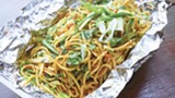 PHOTO BY LANCE YAMAMOTO - The rest of the menu leans Indo-Chinese, as with the chow mein.