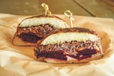 PHOTO BY LANCE YAMAMOTO - The vegan corned beets sandwich is delicious.