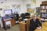 PHOTO BY BRETT SIMPSON - Jill Buck at the office of her Go Green Alliance.