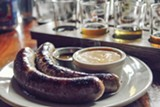 PHOTO BY BRIAN CHAN - A classic pairing: sausages and beer.