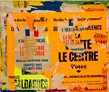 Jacques VILLEGLE, Sevres-Babylone – Ne dechirez pas la France , 8 aout 1968, decollage mounted on canvas, 37 x 44 inches - Uploaded by Nancy Tubbs, FullCalendar