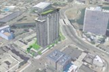 A rendering of the proposed development on East 12th Street.