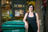BERT JOHNSON - Gail Lillian, owner of Liba Falafel, says Oakland's new trash fees discourage composting.