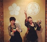 Umami Mart co-owners Yoko  Kumano (left) and Kayoko Akabori know how to throw a party.
