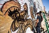 BERT JOHNSON - Dragon School managed to paint more than seventy dragons in Oakland Chinatown in less than three weeks.