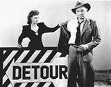 Ann Savage and Tom Neal star in Detour, one of the film noir classics showing this month at the California Theatre in Berkeley.