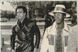 COURTESY BILLY JENNINGS - Huey Newton (L) with Billy X Jennings in 1971.