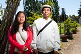 BERT JOHNSON - Paw Ku Tee and her father Sein Win grow food together in the New Roots program.