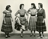 Mother Maybelle Carter (L) and some of the Carter sisters as seen in The Winding Stream.