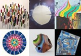 COURTESY BERKELEY ART CENTER - Work by Leo Bersamina, Chris Duncan, Jenny Sharaf, Amber Jean Young, Victoria Wagner, and Kristin Farr (clockwise from top left) in I Look for Clues in Your Dreams.