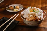 ANDRIA LO - The tamakake gohan was an inspired take on the traditional egg-over-rice bowl.