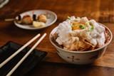 ANDRIA LO - The tamakake gohan was an inspired take on the traditional egg-over-rice bowl.