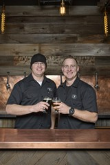 GEORGE BAKER - Sean Wells (L) and John Schuman of Gilman Brewing.