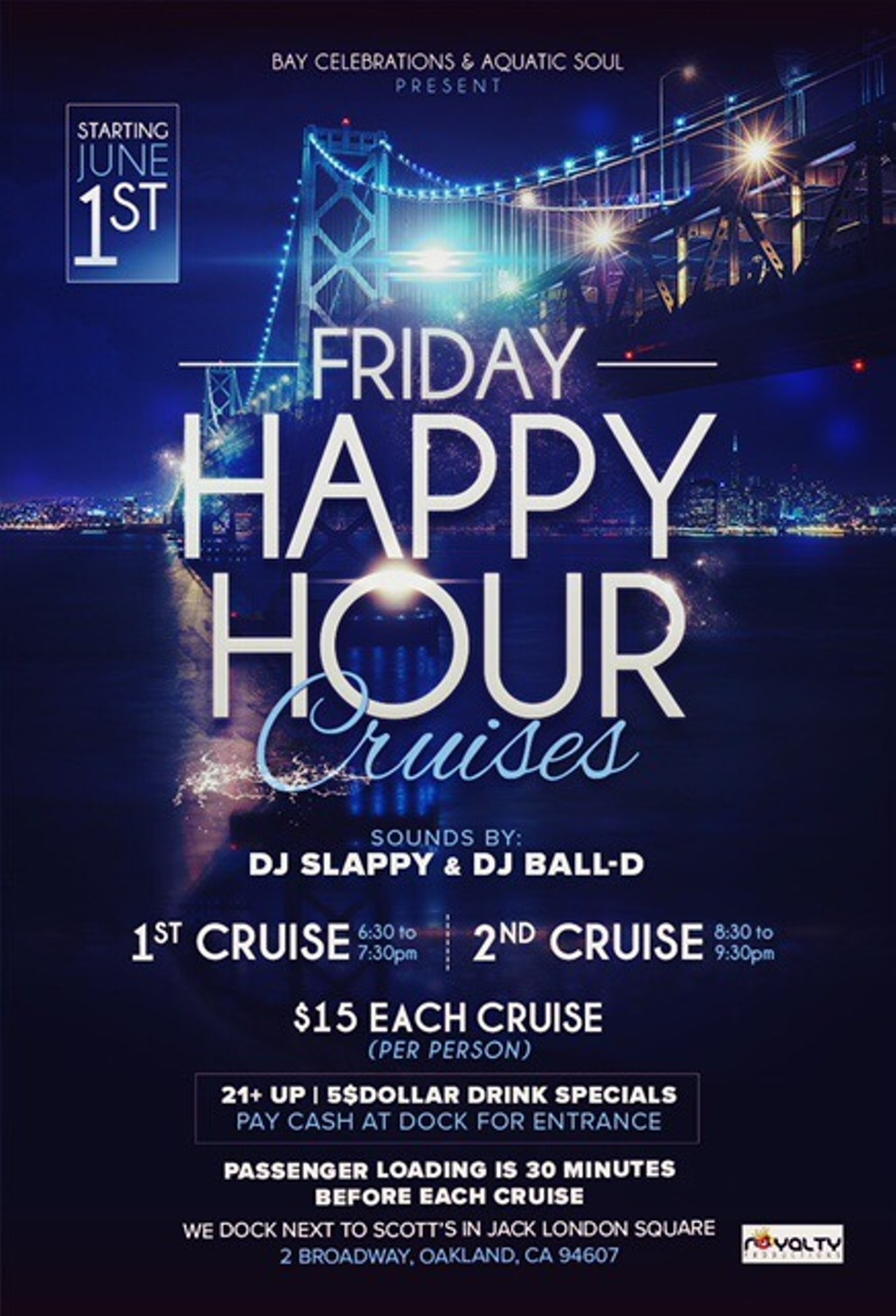 Friday Happy Hour Cruises Jack London Square 2 Broadway