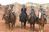 Unhappy trails: Alan Tudyk, Christian Bale, Russell Crowe, and Peter Fonda in 3:10 to Yuma.