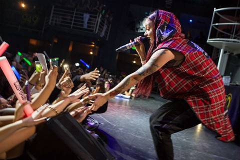 Up-and-coming hip-hop star Kehlani shows Oakland some love. - BERT JOHNSON