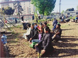 Meditating at Afrika Town during Liberation Day (via Facebook).