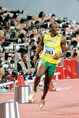 RICH115/FLICKR (CC) - Usain Bolt broke the world record in the men's 100 meters.