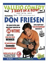 VALLEJOCOMEDY.COM - Vallejo Comedy with Don Friesen!
