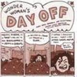 """View askew: A scene from Ellen Forney and Ariel Bordeaux's """"Wonder Woman's Day Off,"""" among the best tales in Bizarro Comics"""
