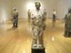 Wanxin Zhang's clay figures marry historical Chinese references with contemporary Western culture.