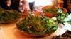 Weed tasting at Chez Panisse.