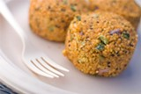 Yam-millet patties from Whole Foods.