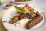 CHRIS DUFFEY - Zatis' version of the sis kebab is among the best we've ever had.