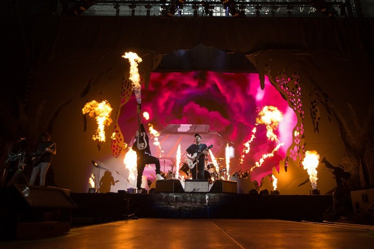 Fall Out Boy brought the heat - PHOTO BY ERIC SAUSEDA