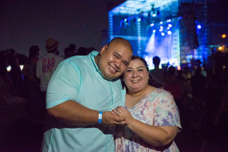 """Diana Aquino and Anderson Kith got engaged during Jason Mraz's performance of """"Lucky."""" Congrats! - PHOTO BY JENNIFER LAKE"""