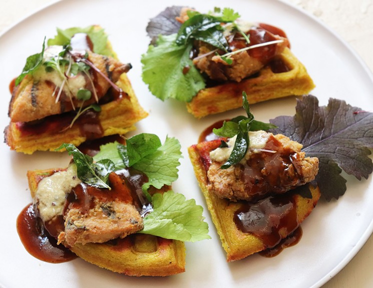 The Dwaffle comes from the creative mind of chef Anita Jaisinghani. - PHOTO BY AJNA JAI