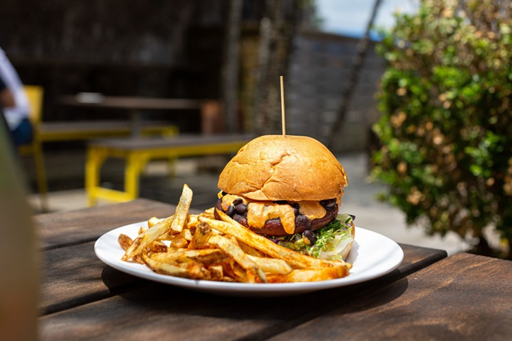 The Heartbeet Burger is plant-based. - PHOTO BY JENN DUNCAN