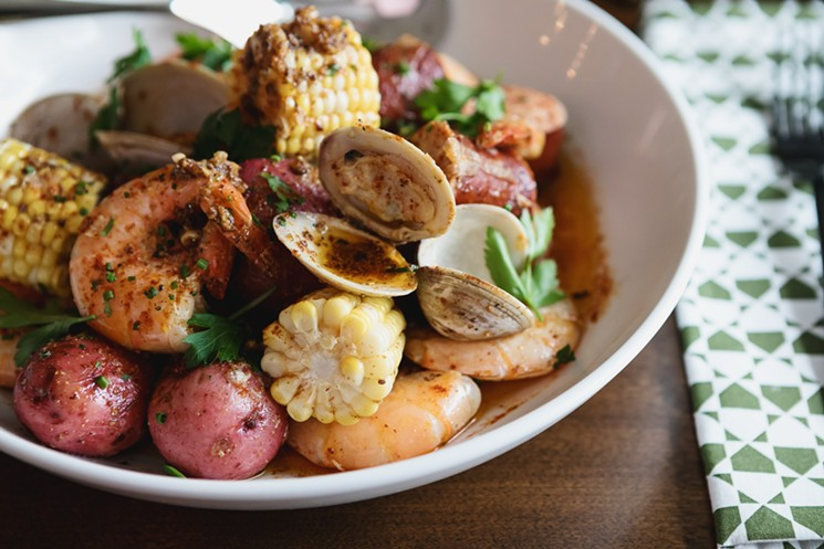 The Shrimp Boil can be ordered in two sizes. - PHOTO BY TRACI LING