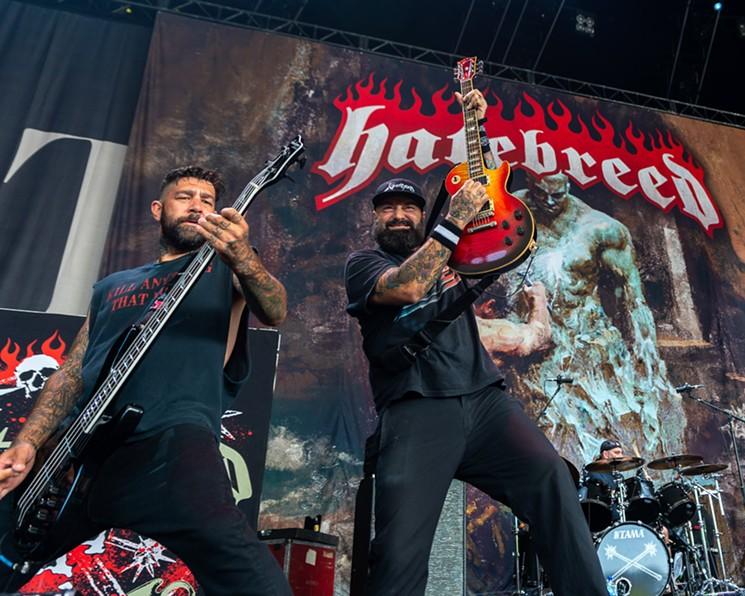 Chris Beattie (Bass) and Frank Novinec (Guitar) of Hatebreed. - PHOTO BY JENNIFER LAKE,
