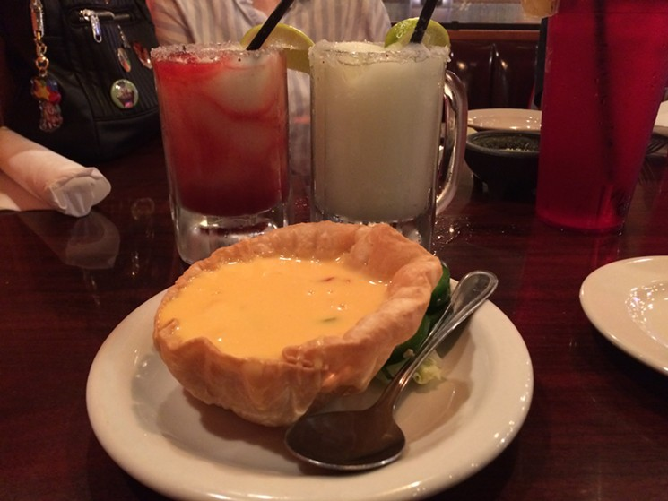 Queso and ritas twice in one week is a treat. - PHOTO BY LORRETTA RUGGIERO
