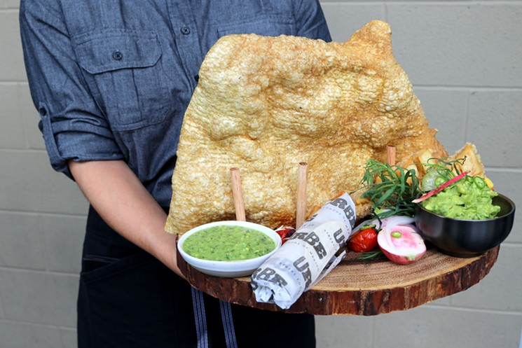 This chicharron could nourish a whole village. - PHOTO BY PAULA MURPHY