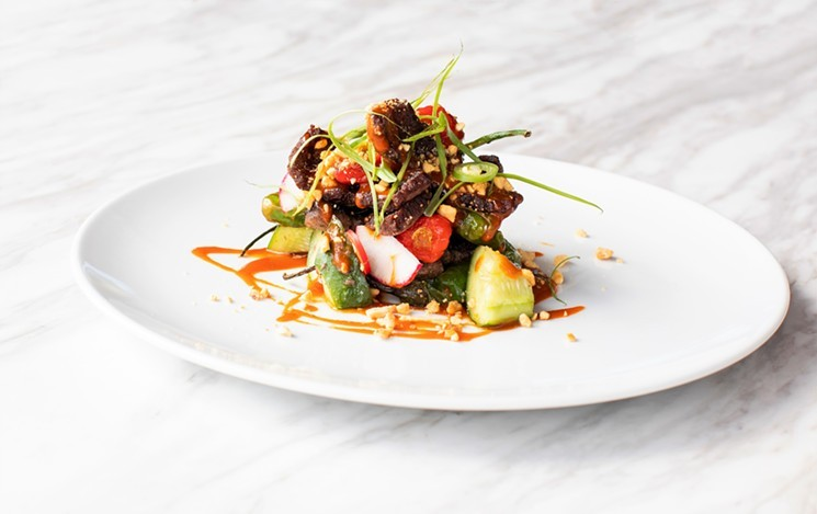Georgia James offers decadent dishes like Shaved Wagyu Short Rib. - PHOTO BY JULIE SOEFER