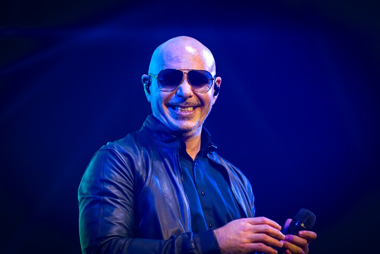 Rap & pop superstar Pitbull preached positivity and happiness with his booty-shaking dance anthems in The Woodlands last Friday evening. - PHOTO BY MARCO TORRES