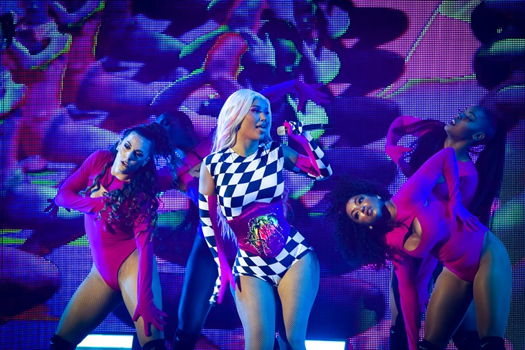 """Iggy Azalea was the opening act of the evening. She hit the scene strong with her 2014 debut album The New Classic and #1 single """"Fancy"""". - PHOTO BY MARCO TORRES"""